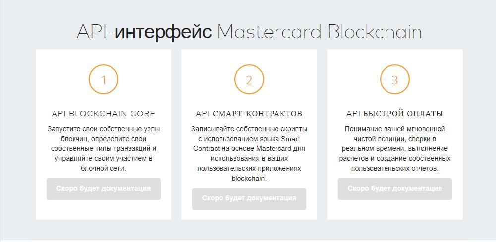 API-интерфейс Mastercard Blockchain