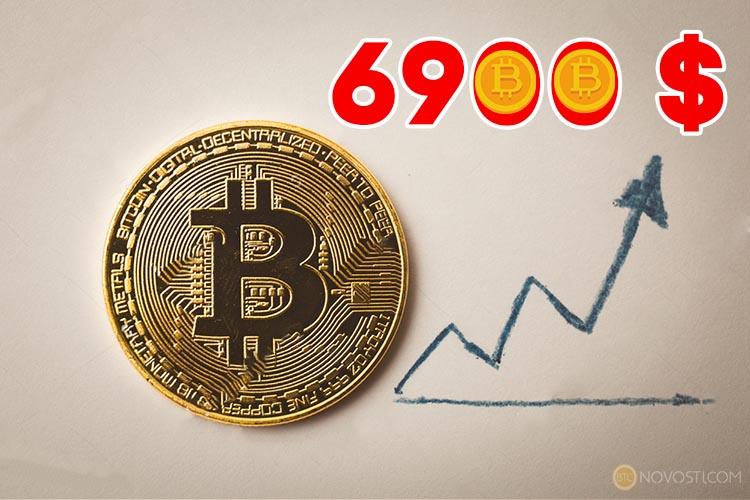 Цена Биткоина очередной раз обновила исторический максимум $ 6900