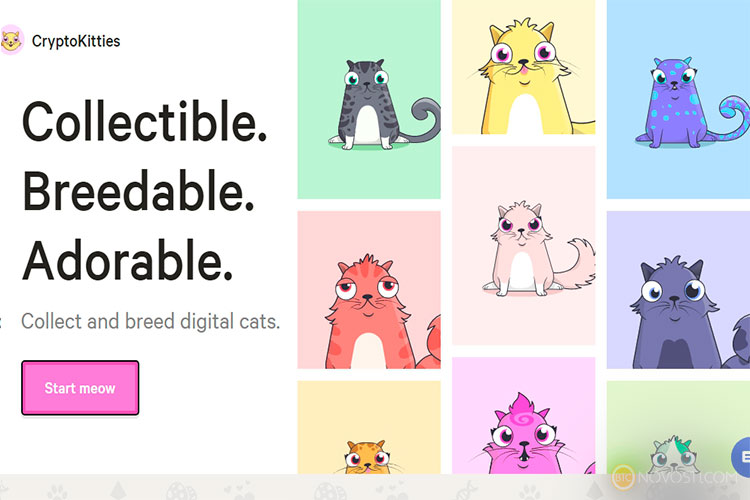 Crypto Cats от Ethereum Blockchain за 1 миллион долларов