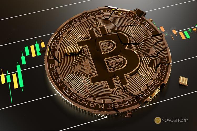 Коррекция биткоина продолжается, за последние сутки биткоин упал на 15%
