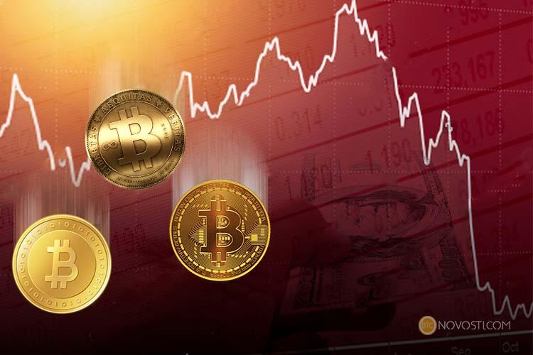 Цена биткоина снизилась ниже отметки в $10 000